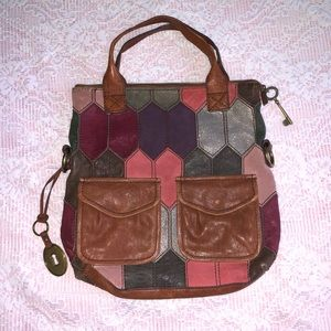 Fossil- Patch work leather purse